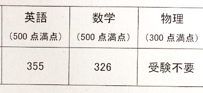31年度(2018年)東大編入試験に合格したエリー氏の成績開示